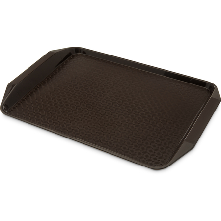 """CT121769 - Cafe® Fast Food Cafeteria Tray with Handles 12"""" x 17"""" - Chocolate"""