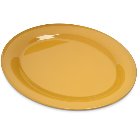 "4308222 - Durus® Melamine Oval Platter Tray 12"" x 9"" - Honey Yellow"