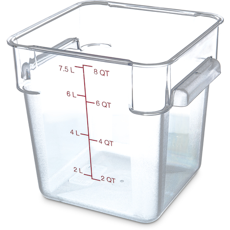 1072307 - StorPlus™ Polycarbonate Square Food Storage Container 8 qt - Clear