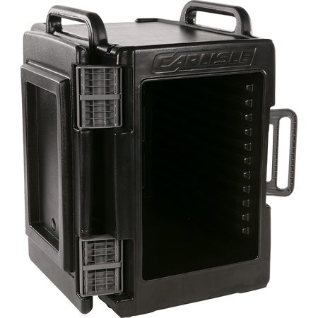 "IT40003 - Cateraide™ IT End Loading Insulated Food Pan Carrier 6 Full Size 2.5"" Pans - Onyx"