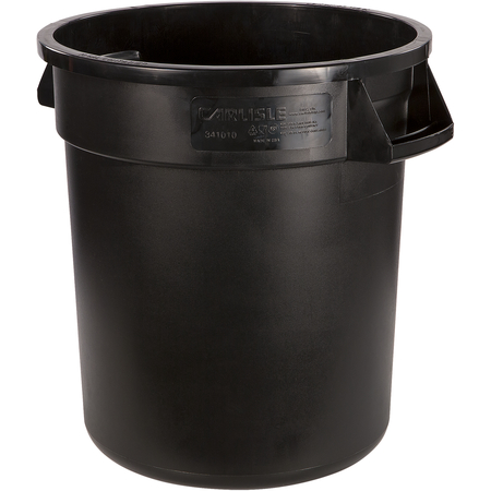 34101003 - Bronco™ Round Waste Bin Food Container 10 Gallon - Black