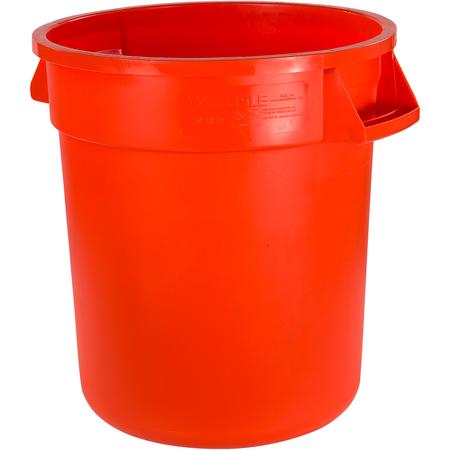 34101024 - Bronco™ Round Waste Bin Trash Container 10 Gallon - Orange