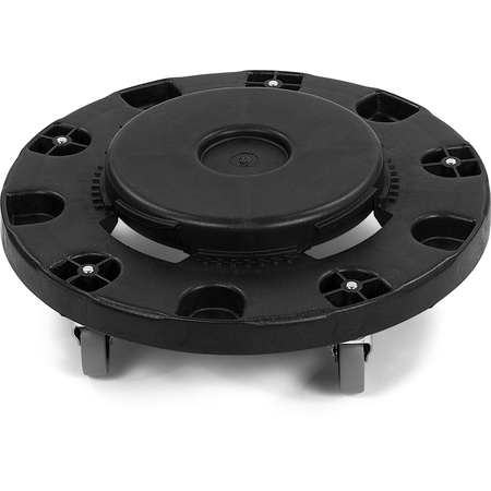 3691103 - Bronco™ Round Waste Container Trash Can Dolly 20, 32, 44 and 55 Gallon - Black