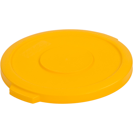 34101104 - Bronco™ Round Waste Bin Trash Container Lid 10 Gallon - Yellow