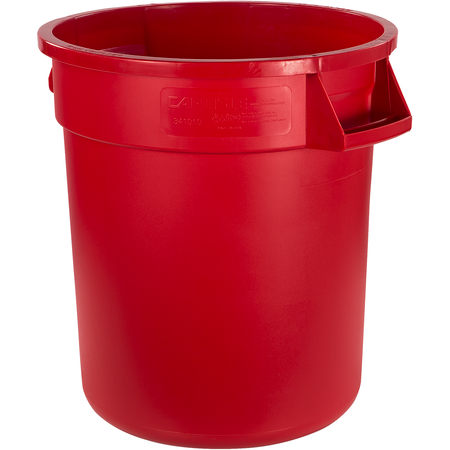 34101005 - Bronco™ Round Waste Bin Trash Container 10 Gallon - Red