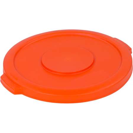 34101124 - Bronco™ Round Waste Bin Trash Container Lid 10 Gallon - Orange