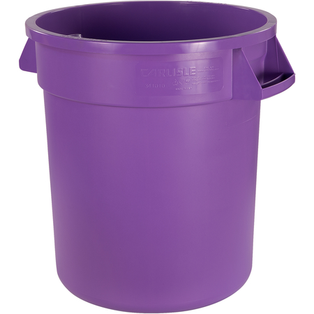 34101089 - Bronco™ Round Waste Bin Trash Container 10 Gallon - Purple