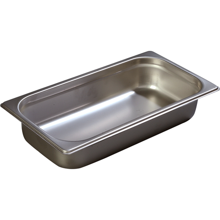 "608132 - DuraPan™ Third-Size Heavy Gauge Stainless Steel Steam Table Hotel Pan 2.5"" Deep - Stainless Steel"