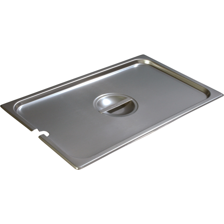 607000CS - DuraPan™ Full-Size Stainless Steel Hotel Pan Slotted Handled Cover