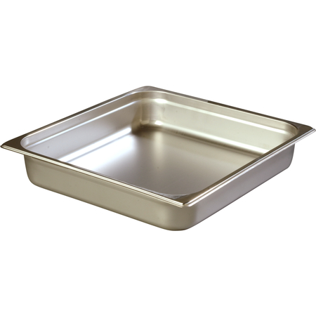 """607232 - DuraPan™ Two-Third-Size Light Gauge Stainless Steel Steam Table Hotel Pan 2.5"""" Deep"""
