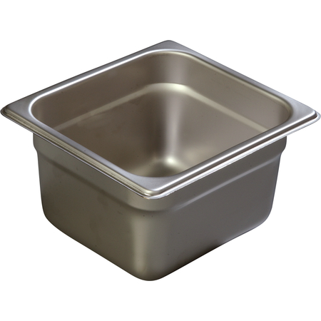 "607164 - DuraPan™ Sixth-Size Light Gauge Stainless Steel Steam Table Hotel Pan 4"" Deep"