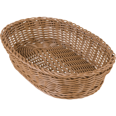 "655125 - Woven Baskets Oval Basket 11.5"" - Caramel"