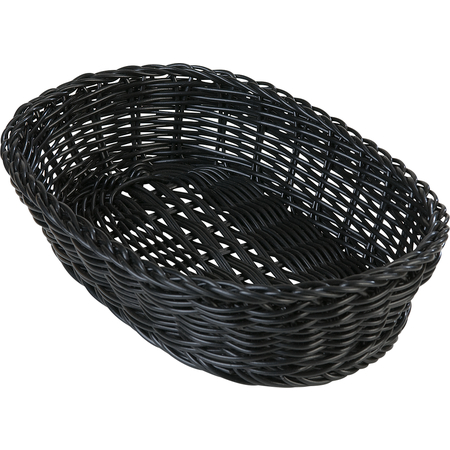 "655103 - Woven Baskets Oval Basket 11.5"" - Black"