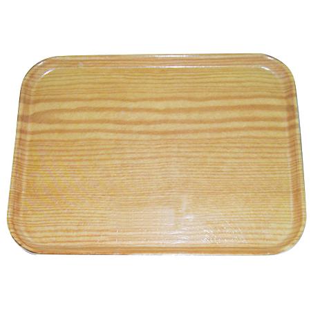 "269WFG065 - Glasteel™ Wood Grain Display/Bakery Tray 8.75"" x 25.5"" - Light Oak"