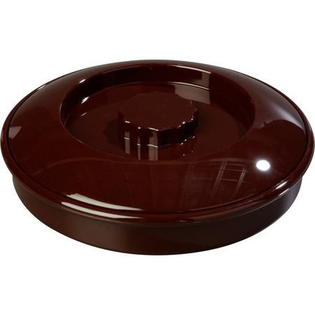"047001 - Tortilla Server w/Lid 7-1/4"" / 1-15/16"" - Brown"