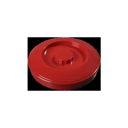 "047505 - Tortilla Server w/Lid 7-1/4"" / 1-15/16"" - Red"
