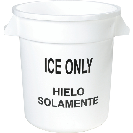341010ICE02 - Bronco™ Round ICE ONLY Container 10 Gallon - Ice Only - White
