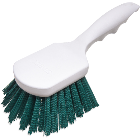 "4054109 - Sparta® Utility Scrub Brush with Polyester Bristles 8"" x 3"" - Green"