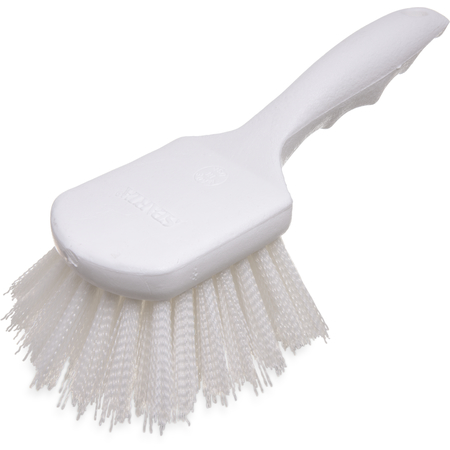 "4054102 - Sparta® Utility Scrub Brush with Polyester Bristles 8"" x 3"" - White"