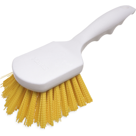 "4054104 - Sparta® Utility Scrub Brush with Polyester Bristles 8"" x 3"" - Yellow"