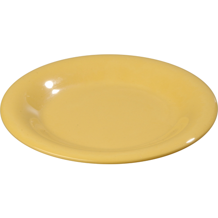 """4301822 - Durus® Melamine Pie Plate Wide Rim 6.5"""" - Honey Yellow"""