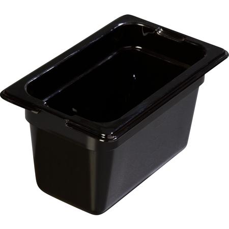 """1052103 - TopNotch® Food Pan 4"""" DP 1/9 Size - Black"""