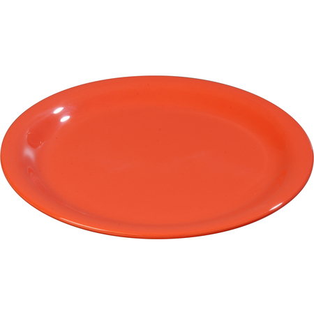 "3300652 - Sierrus™ Melamine Narrow Rim Salad Plate 7.25"" - Sunset Orange"