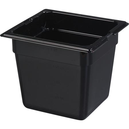 "1050203 - TopNotch® Food Pan HH 6"" DP 1/6 Size - Black"
