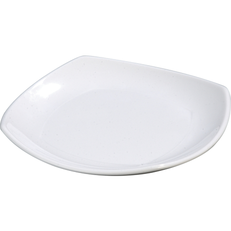 "4330602 - Melamine Upturned Corner Medium Square Plate 9.5"" - White"