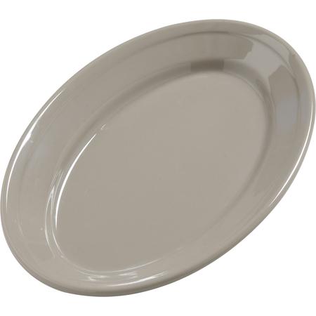 """4387231 - Dayton™ Melamine Oval Platter Tray 9.25"""" x 6.25"""" - Truffle"""