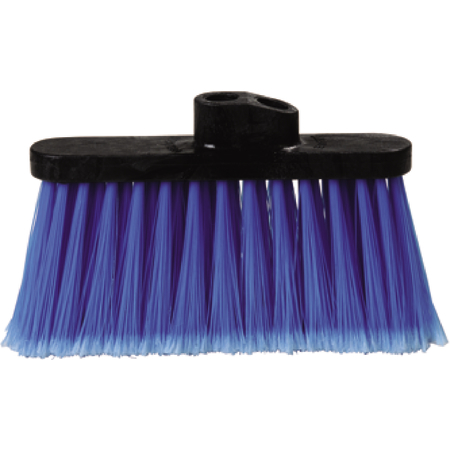 "3685314 - Duo-Sweep® Light Industrial Broom Head 4"" Bristle Trim - Blue"