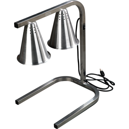 HL723700 - Two Bulb Free Standing Adjustable Heat Lamp - Aluminum