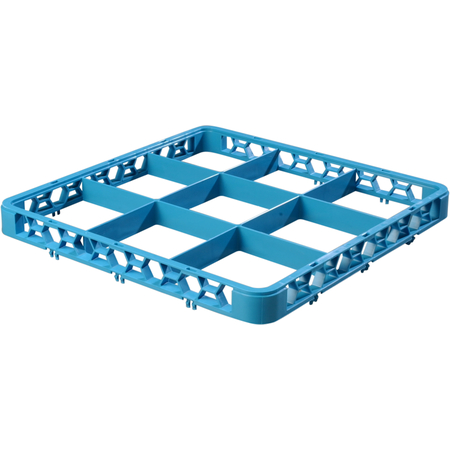 """RE914 - OptiClean™ 9 Compartment Divided Glass Rack Extender 1.78"""" - Carlisle Blue"""