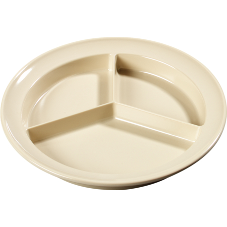 KL20325 - Kingline™ Melamine 3-Compartment Deep Plate 8.75 - Tan