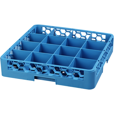 RC1614 - OptiClean™ Tilted Cup Rack 16 Compartment - Carlisle Blue