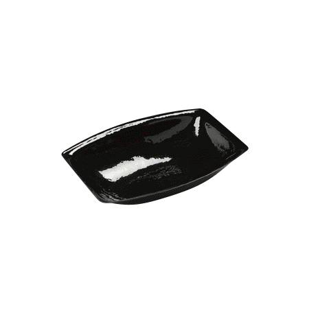 OSB17803 - Pebbled Bowl Oval 15 qt - Black