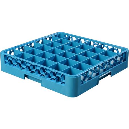 "RG3614 - OptiClean™ 36 Compartment Glass Rack 4"" - Carlisle Blue"