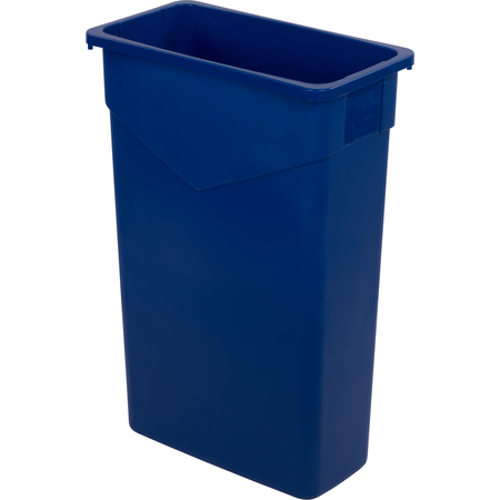 34202314 - TrimLine™ Rectangle Waste Container Trash Can 23 Gallon - Blue