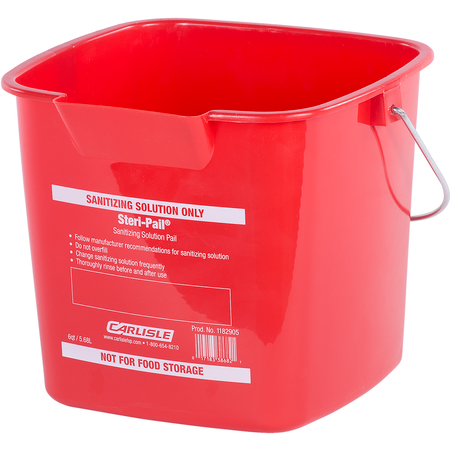 1182905 - Square Steri Pail® 6 qt - Red