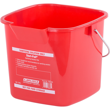 1182805 - Square Steri Pail® 3 qt - Red