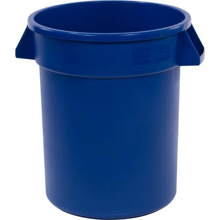 34102014 - Bronco™ Round Waste Bin Trash Container 20 Gallon - Blue