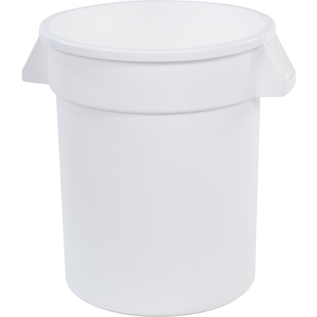 34102002 - Bronco™ Round Waste Bin Trash Container 20 Gallon - White