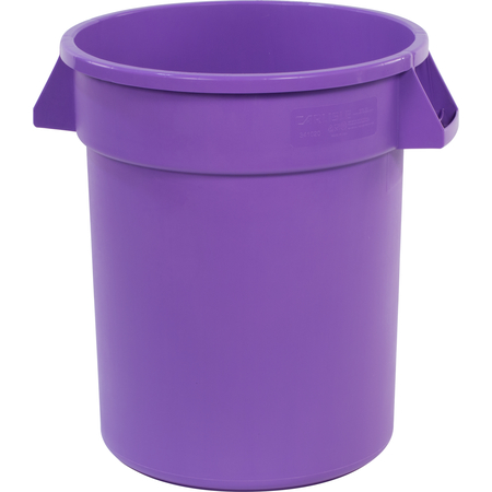 34102089 - Bronco™ Round Waste Bin Trash Container 20 Gallon - Purple