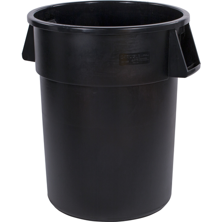 34105503 - Bronco™ Round Waste Bin Trash Container 55 Gallon - Black
