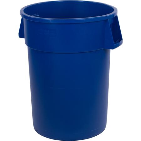 34104414 - Bronco™ Round Waste Bin Trash Container 44 Gallon - Blue