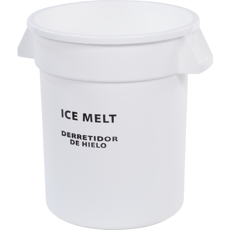341010IMB02 - Bronco™ Round ICE MELT Container 10 Gallon - Ice Melt - White