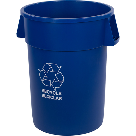 341044REC14 - Bronco™ Round RECYCLE Container 44 Gallon - Blue