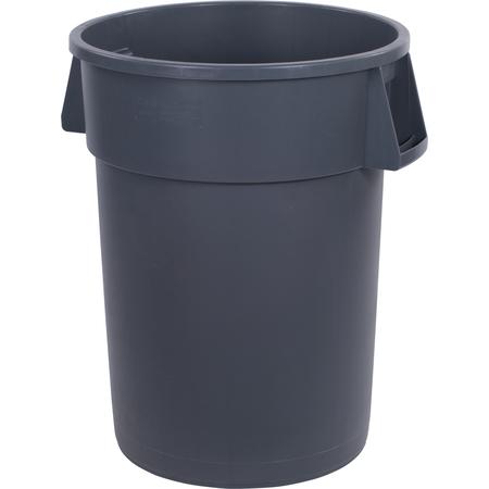 34104423 - Bronco™ Round Waste Bin Trash Container 44 Gallon - Gray