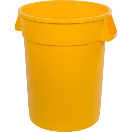 34103204 - Bronco™ Round Waste Bin Trash Container 32 Gallon - Yellow