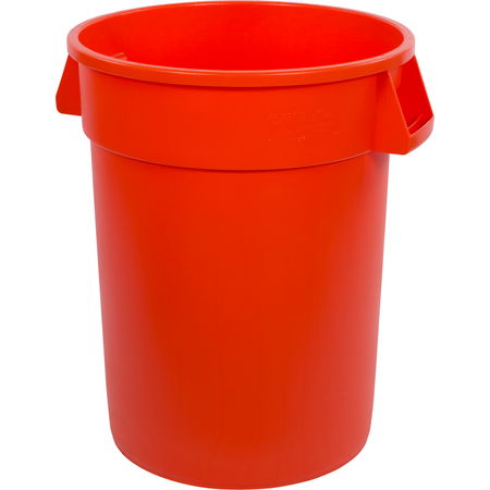 34103224 - Bronco™ Round Waste Bin Trash Container 32 Gallon - Orange